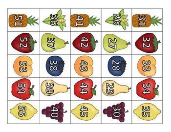 Food 100 Chart Math Center