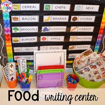 Food and Nutrition Math & Literacy Centers for Preschool, Pre-K, & Kindergarten