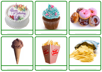 """Photo Picture Cards *54 FOOD* 3 Formats 3.5x3.7"""""""