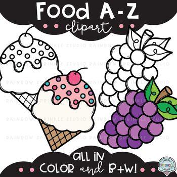 Food A-Z Clipart {alphabet clipart} by Rainbow Sprinkle ...