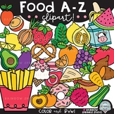 Food A-Z Clipart {alphabet clipart}