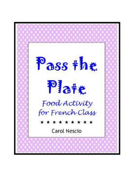 Food * Activity  Pass The Plate For French Class