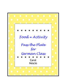 Food * Activity  Pass The Plate For German Class