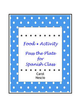 Food * Activity Pass The Plate For Spanish Class