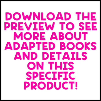 Food Adapted Book Bundle: 4 Food Adapted Books for Students with Autism