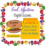Food Adjectives - Computer Activities for Microsoft Office-Google Apps