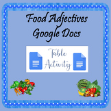 Food Adjectives Google Docs