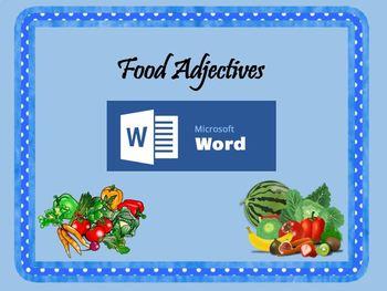 Food Adjectives - Microsoft Word