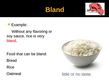 Food Adjectives Powerpoint