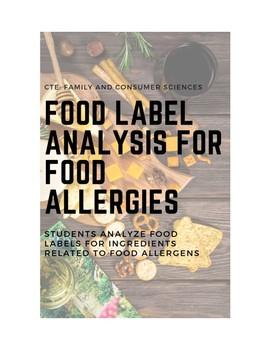 Food Allergy Food Label Analysis