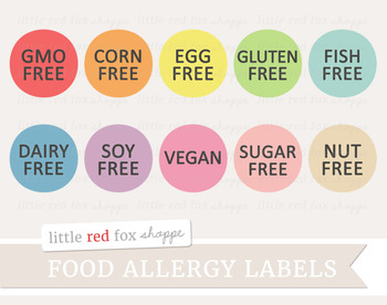 Food Allergy Label Clipart; Nutrition