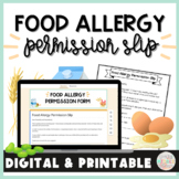 Food Allergy Permission Slip