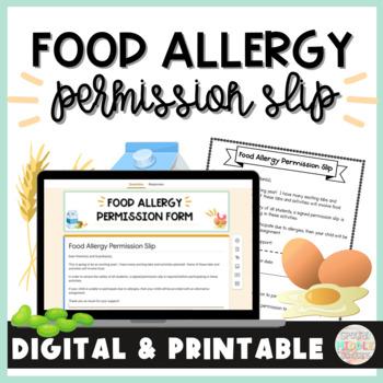 Food Allergy Permission Slip