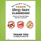Food Allergy Printables Kit: Wallet Card and Classroom Poster [Customizable]