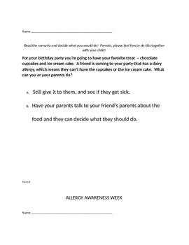 Food Allergy Scenarios