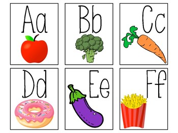 Food Alphabet Cards