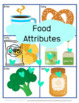 Food Attributes and Vocabulary for Sorting, Answering questions