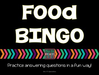 Food BINGO: A question based game