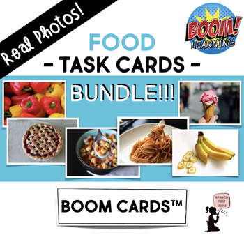 Food Boom Cards Bundle Real Photos By Speech Your Mind Tpt