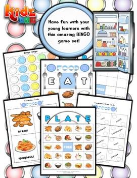 Food Bingo Worksheets Teaching Resources Teachers Pay Teachers
