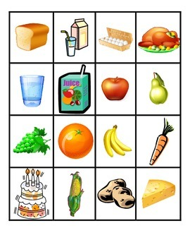 Food Bingo (Spanish)