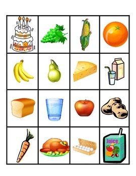 Food Bingo (Spanish)