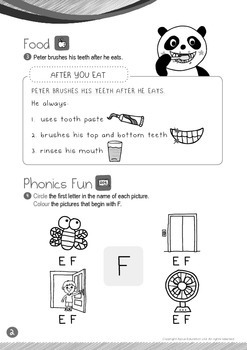 Food - Brush Your Teeth (I): Letter F - Kindergarten, K1 (3 years old)