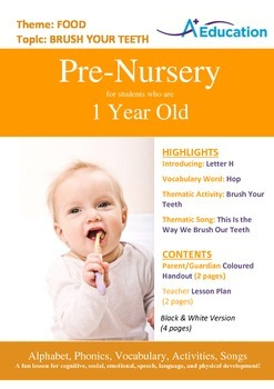 Food - Brush Your Teeth : Letter H : Hop - Pre-Nursery (1 year old)