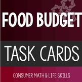 Food Budget Task Cards High School Special Education