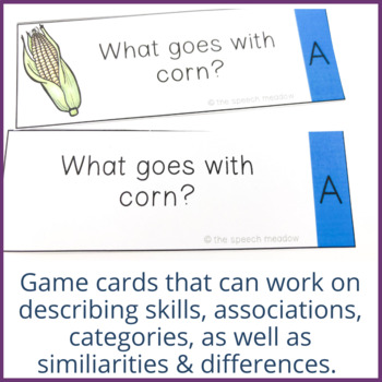 Food: Building Vocabulary and Semantic Relationships