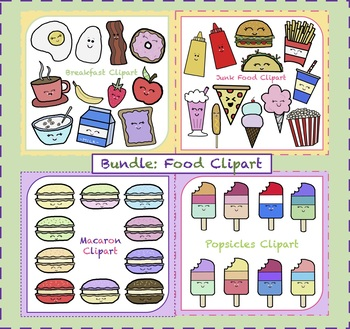 Food Bundle Clipart {4 sets}