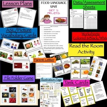 ASL Language Food Bundle Units