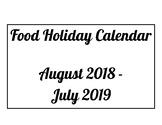 Food Calendar Holiday with optional Bonus Assignment