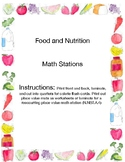 Food Calories Math Stations Game