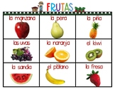 Food Cards In Spanish and English