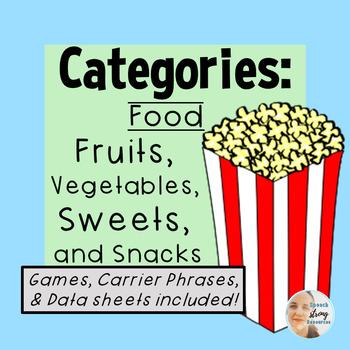 Food Categories: Fruit, Vegetables, Desserts, Snacks