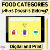 What Doesn't Belong Foods in Categories Digital and Printable Activity