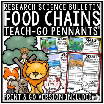 Food Chain Activity & Food Web Activity Poster Pennants •