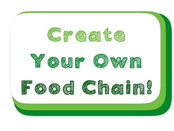 Food Chain - Chain Art Activity