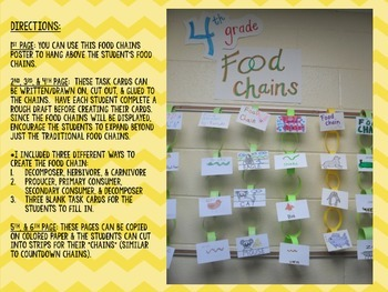 Food Chain Display Template