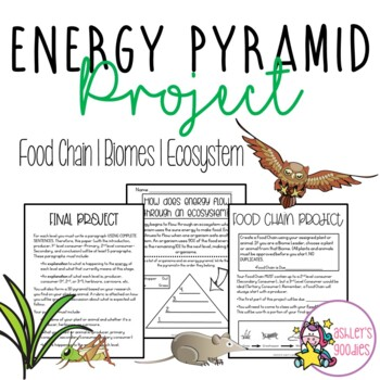 Food Chain/Energy Pyramid Project and Activities