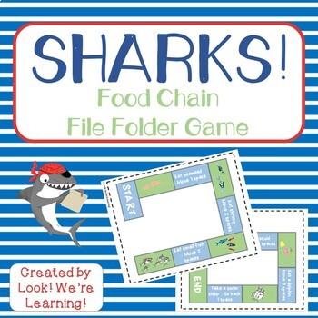 Food Chain File Folder Game - Sharks!