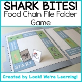 Food Chain File Folder Game - Shark Bites!