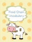 Food Chain Vocabulary Foldable