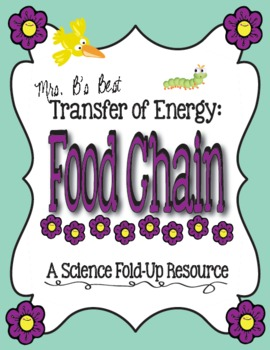 Food Chain Foldable - Transfer of Energy