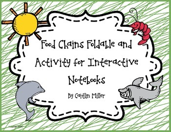 Food Chain Foldable and Activity for Interactive Notebooks