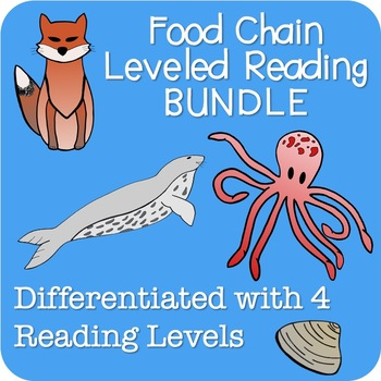 Food Chain Leveled Reading Passages Emergent to Third Grade