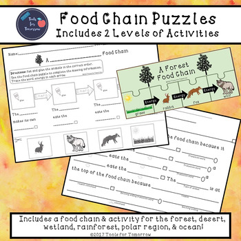 Food Chain Puzzles & Activities