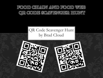 Food Chain QR Code Scavenger Hunt