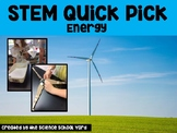 Energy STEM/NGSS Science Quick Pick